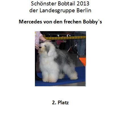 Bobby 2. Platz